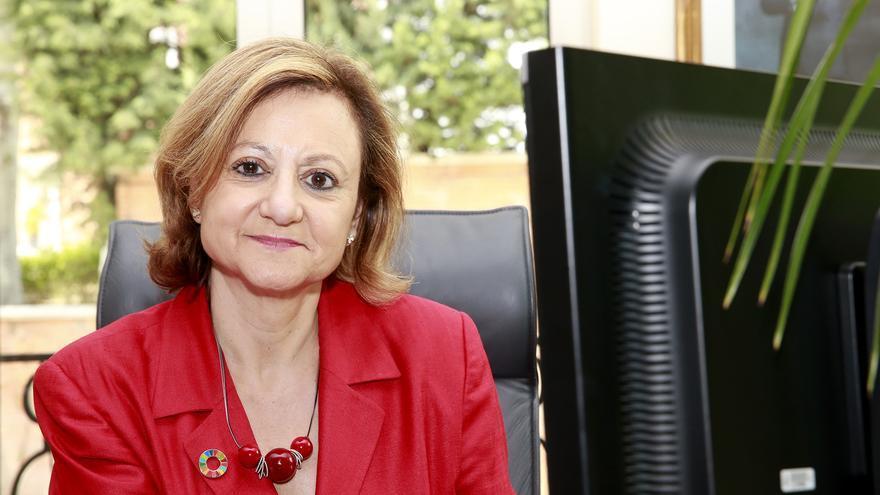 La Alta Comisionada para la agenda 2030, Cristina Gallach, en su despacho
