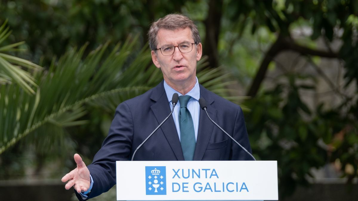 El presidente de la Xunta, Alberto Núñez Feijóo, en un acto en Vigo.