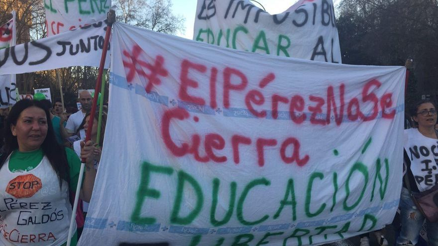 El IES Benito Pérez Galdós de Madrid, en huelga