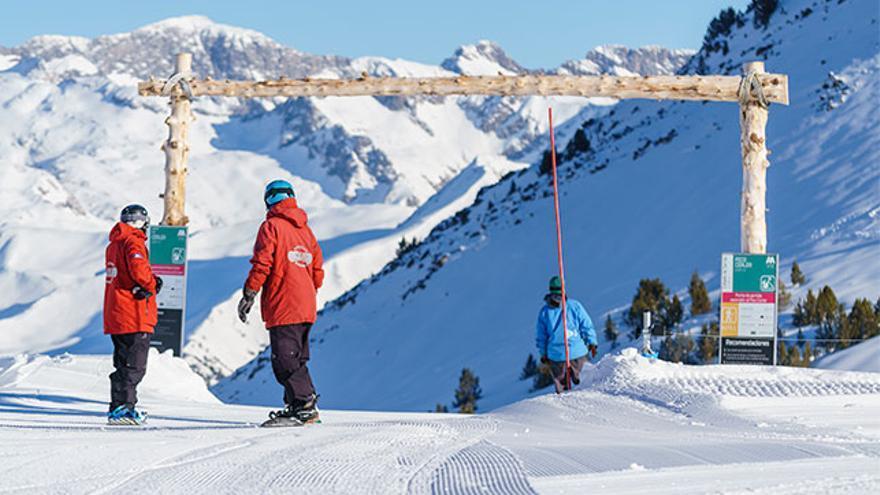 El punto más alto de Cerler está a 2.630 metros