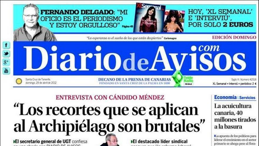De las portadas del día (29/04/2012) #2