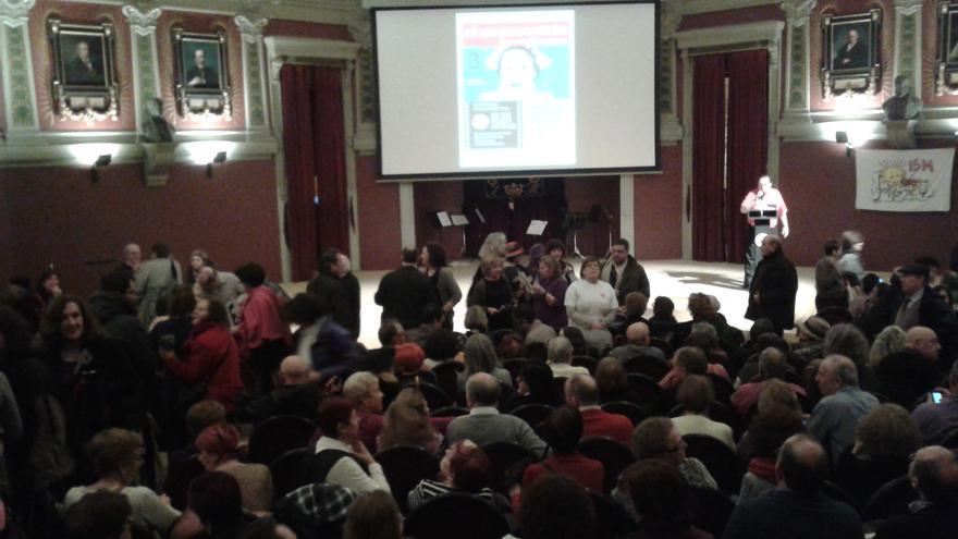 El Ateneo de Madrid momentos antes del estreno del documental 'Ni un paso atrás'.