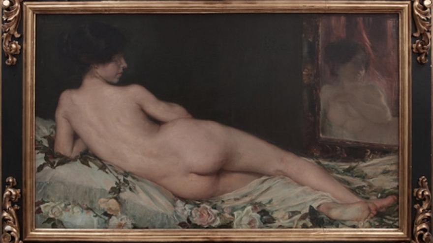 'Desnudo de mujer', de Aurelia Navarro (1908). Este fue uno de los cuadros que causó malestar en su familia, que la acabó internando en un convento.