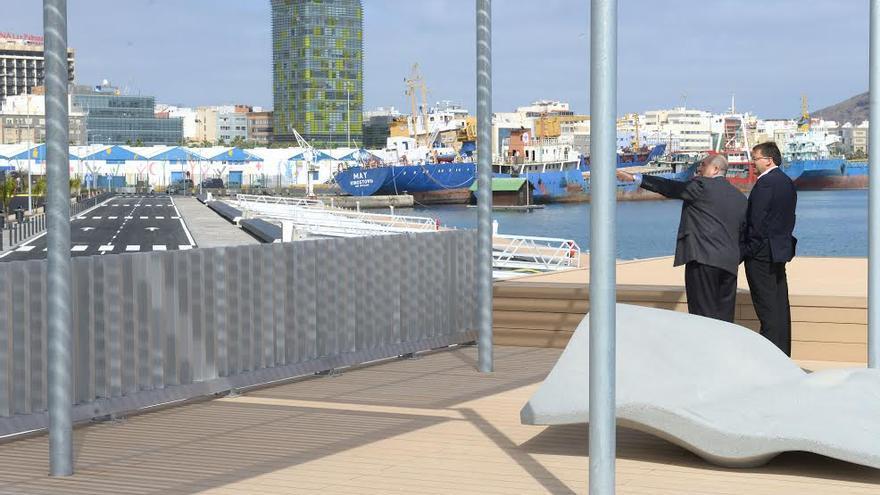 Visita a las obras del Muelle Santa Catalina.