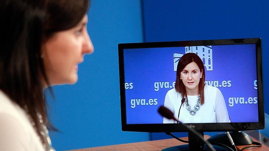 María José Catalá, durante la rueda de prensa