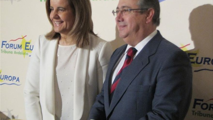 Fátima Báñez con Juan Ignacio Zoido