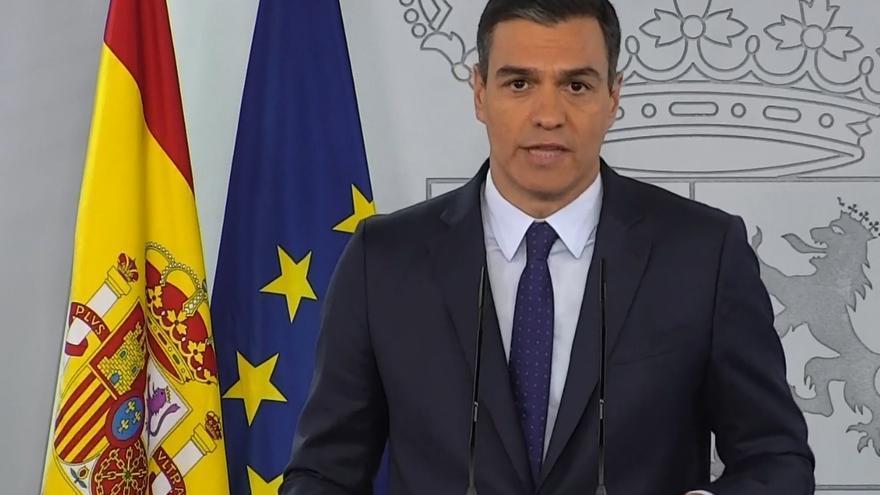 El presidente del Gobierno, Pedro Sánchez, en rueda de prensa tras reunirse con los presidentes autonómicos.