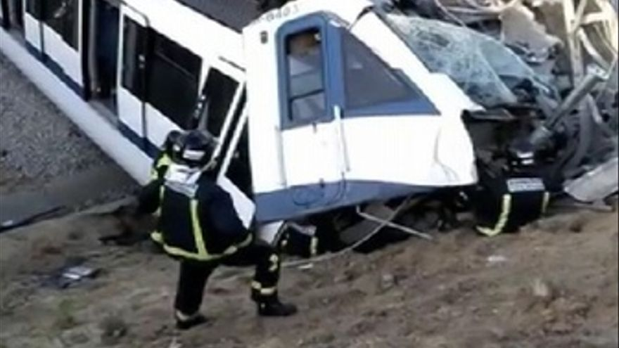 Los Bomberos graban su rescate del accidente de metro