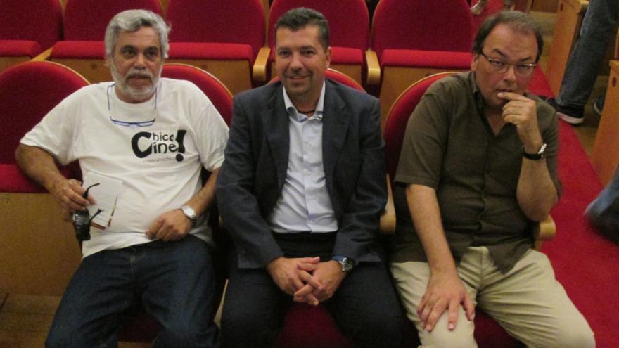 Fernando Tena, Juan José Cabrera y Vicente García, este miércoles.