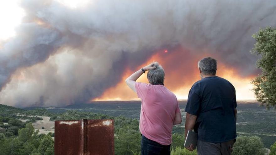 El incendio de Luna (Zaragoza) ha quemado más de 14.00 Ha / M. Interior.