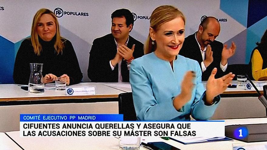 Cristina Cifuentes en el Telediario 1