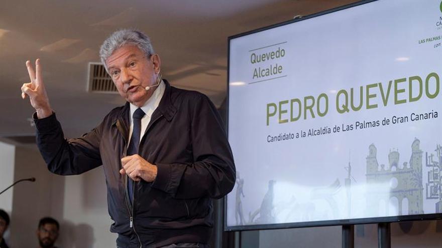 Pedro Quevedo, durante su presentación como candidato al Ayuntamiento de Las Palmas de Gran Canaria