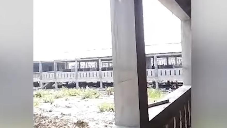 Captura de pantalla del vídeo al que ha tenido acceso the Guardian en el que se pueden ver las estructuras de hormigón