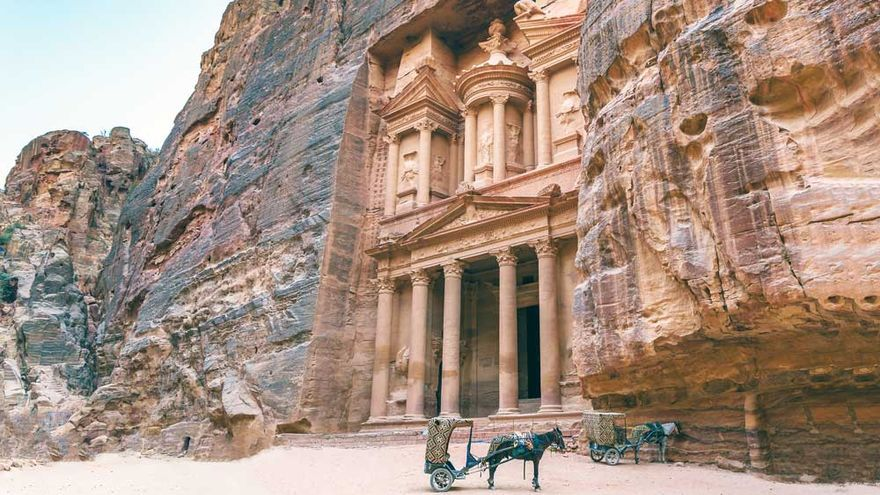 El Tesoro de Petra, en Jordania