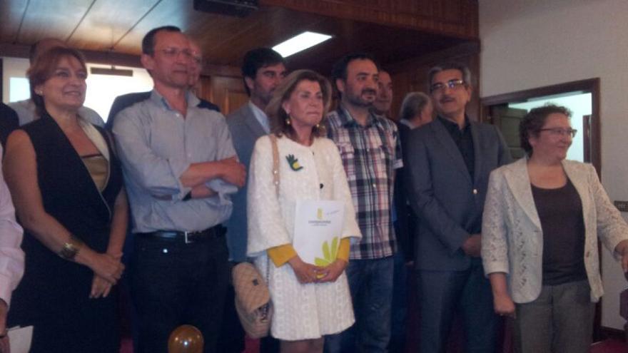 Firmantes del Pacto por la Democracia en Canarias