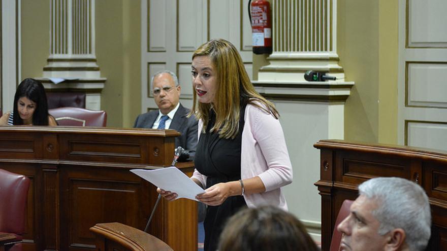 Dolores Corujo, presidenta del Grupo Socialista en el Parlamento de Canarias