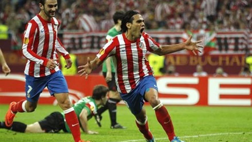 Falcao celebra uno de los goles (EUROPA PRESS).