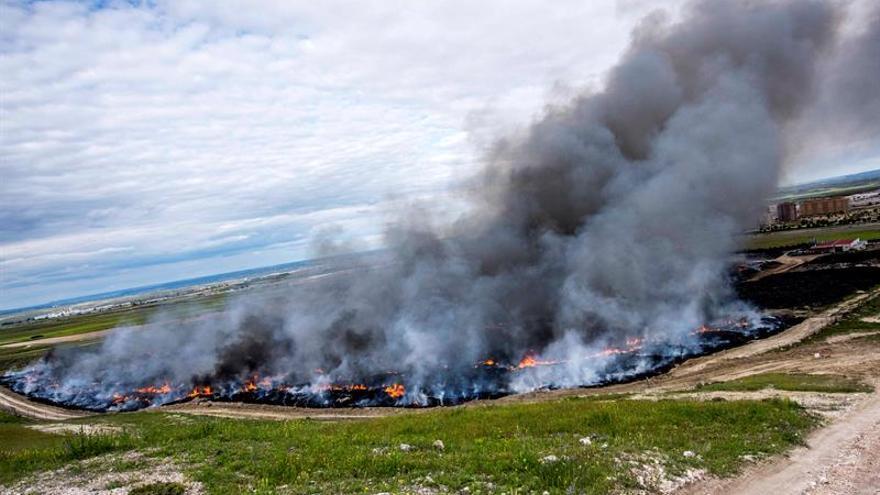 """La situación del incendio de Seseña es """"estable"""", según el consejero madrileño"""