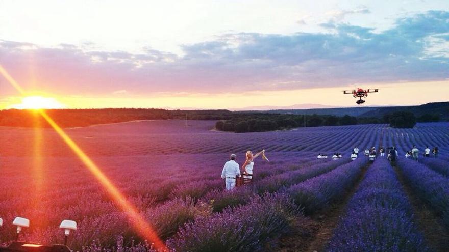 Rodaje del programa 'Un país para comérselo' con dron