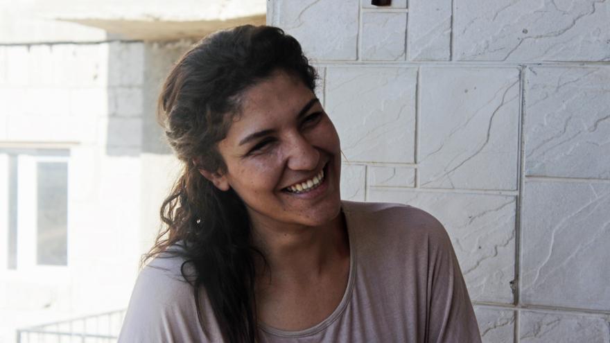 Sherin perdió un ojo durante la batalla de Kobane, ahora participa en la autoadministración