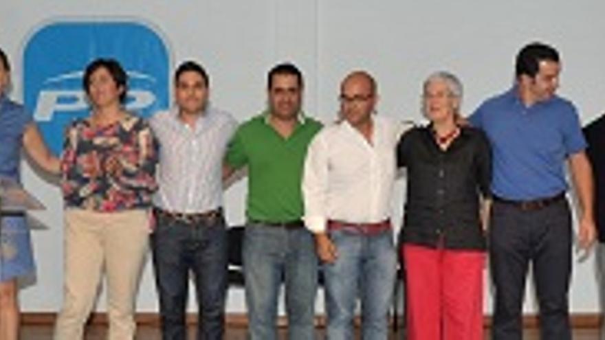 Miembros del PP de Los Llanos de Aridane.