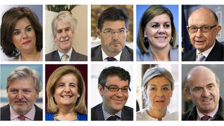 Rajoy mantiene a Sáenz de Santamaría de única vicepresidenta y da entrada a Cospedal