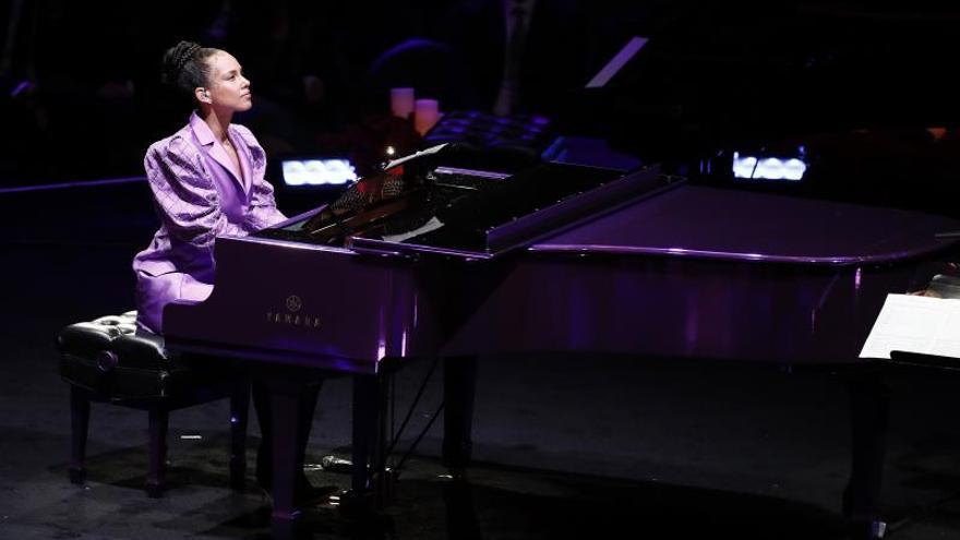 La cantante americana Alicia Keys.