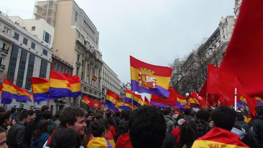 Manifestación por la República - Foto de Juventudes Comunistas de Toledo