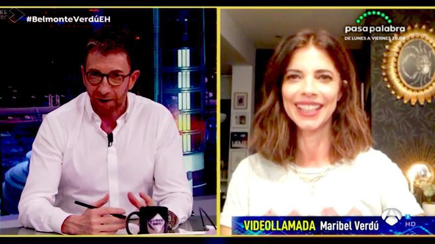 Maribel Verdú, por videollamada en El Hormiguero