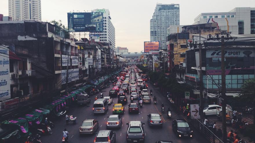 Tráfico urbano.