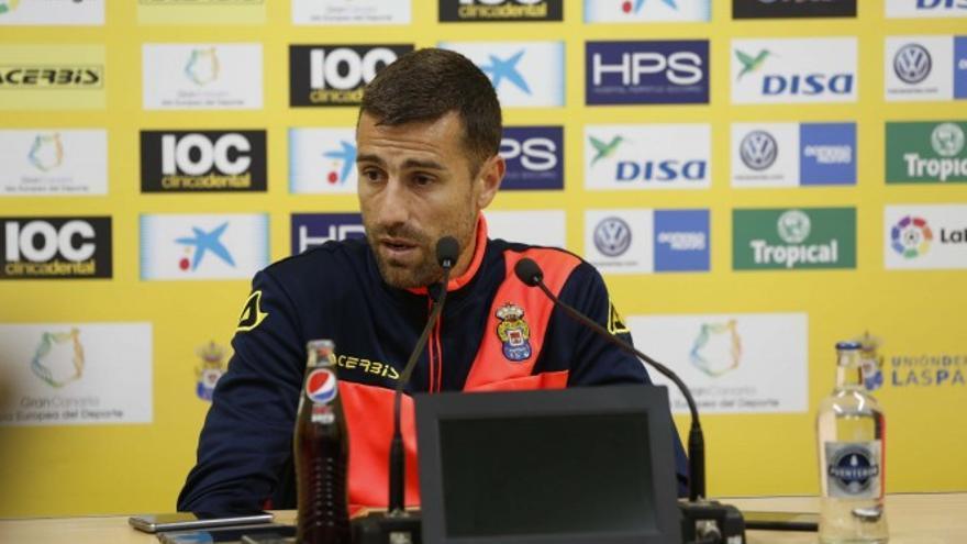 El capitán de la Unión Deportiva Las Palmas, David García