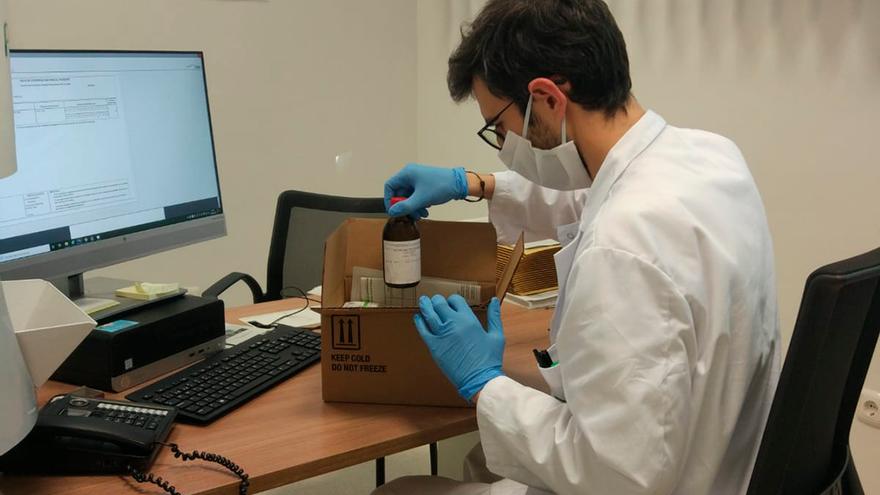 Preparación de envíos de la farmacia de Reina Sofía.