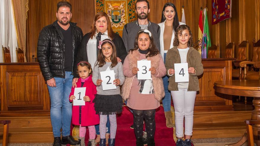Candidatas reina infantil Carnaval Valverde