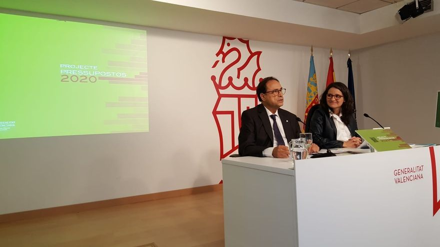 El conseller de Hacienda, Vicent Soler y la vicepresidenta de la Generalitat, Mónica Oltra
