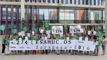 La PAH de Zaragoza presenta simultáneamente 30 demandas contra Ibercaja reclamando cláusulas abusivas