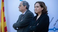 """Torra y Colau se enzarzan en las redes entre acusaciones cruzadas de """"ignorar"""" a una parte de los catalanes"""