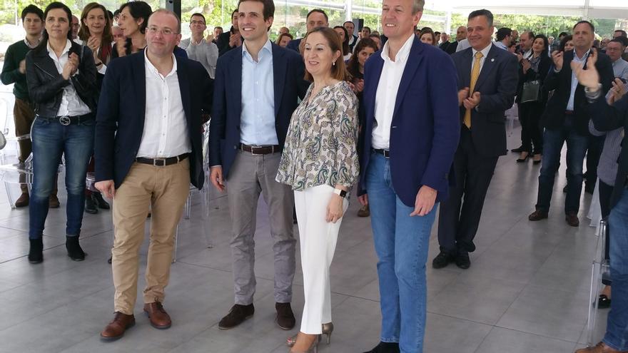 """Pablo Casado asegura que un posible pacto del PSdeG, las mareas y """"lo que queda de Beiras"""" es """"igual a nada"""""""