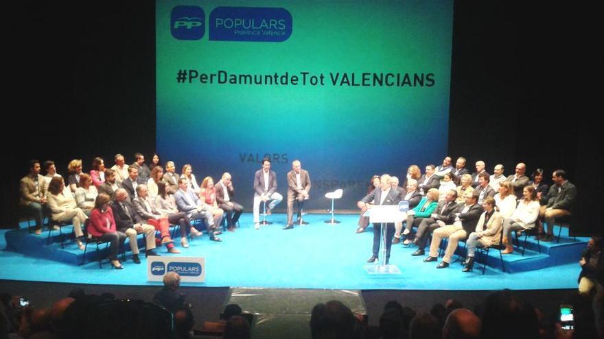 Alfonso Rus, en la presentación de los candidatos del PP en Valencia.