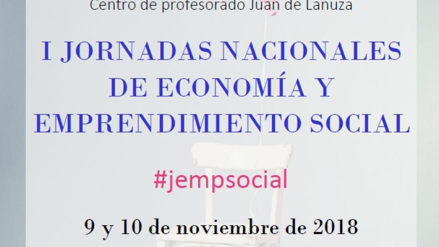 Cartel de las I Jornadas nacionales de Economía y Emprendimiento Social que se celebran en Zaragoza