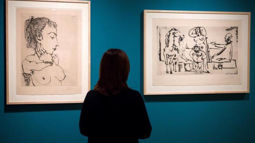 Picasso y Goya dialogan en torno al aguatinta en una exposición en Málaga