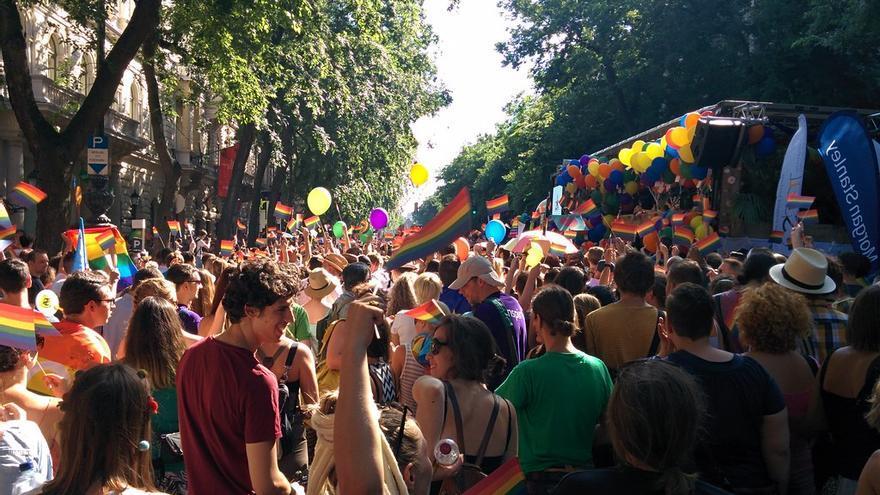El desfile de Orgullo en Budapest, Hungría en 2015.