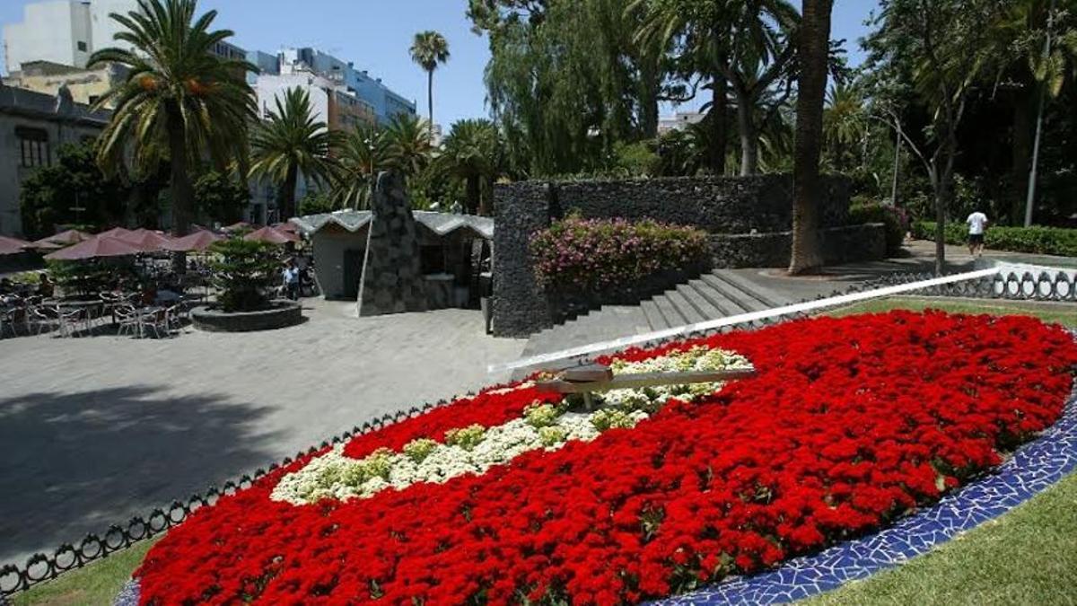 Reloj de flores del Parque García Sanabria, en Santa Cruz de Tenerife