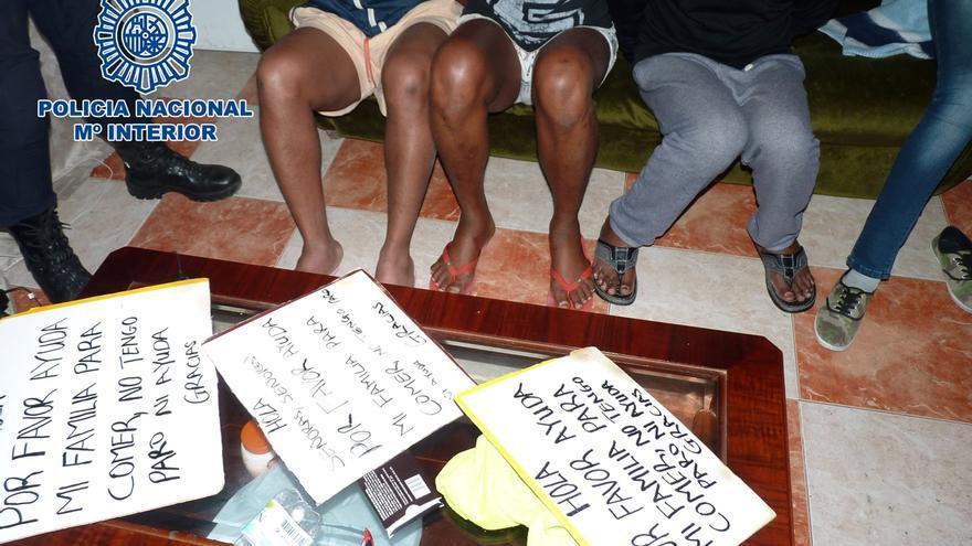 Desarticulada una organización acusada de explotar sexualmente y obligar a mendigar a nigerianos