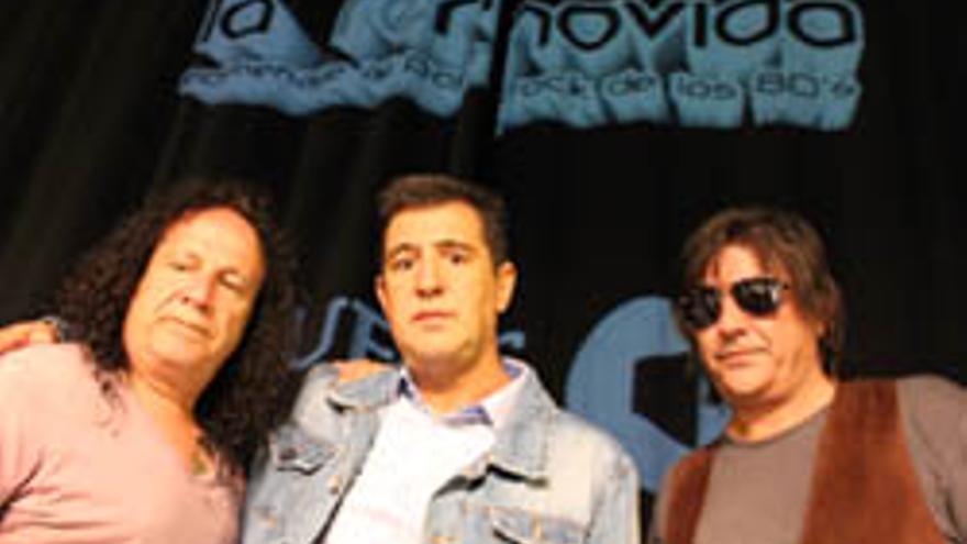 Sherpa, Manolo Tena y Javier Andreu durante la presentación de La Removida.
