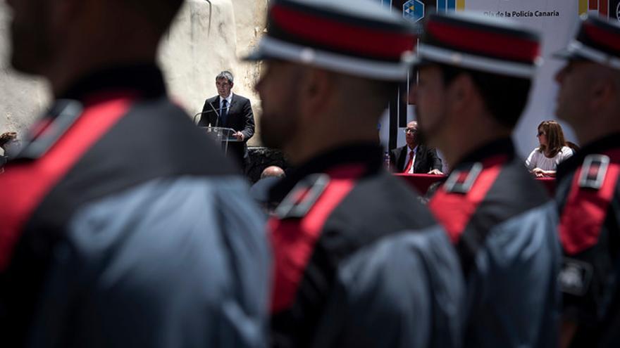 Acto del Día de la Policía Canaria presidido por Fernando Clavijo