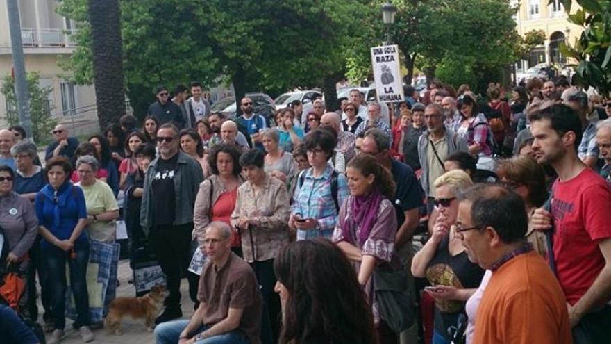 En la protesta criticaron la portura de la Unión Europea, que a s u juicio de desentendido de las personas refugiadas / Refugiados Extremadura