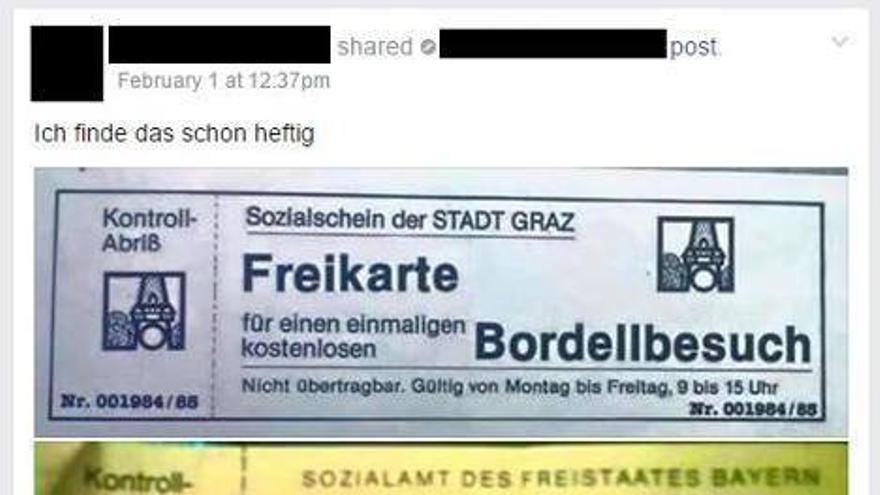 No, no se entregan en Alemania cupones para que los inmigrantes vayan a los burdeles gratuitamente