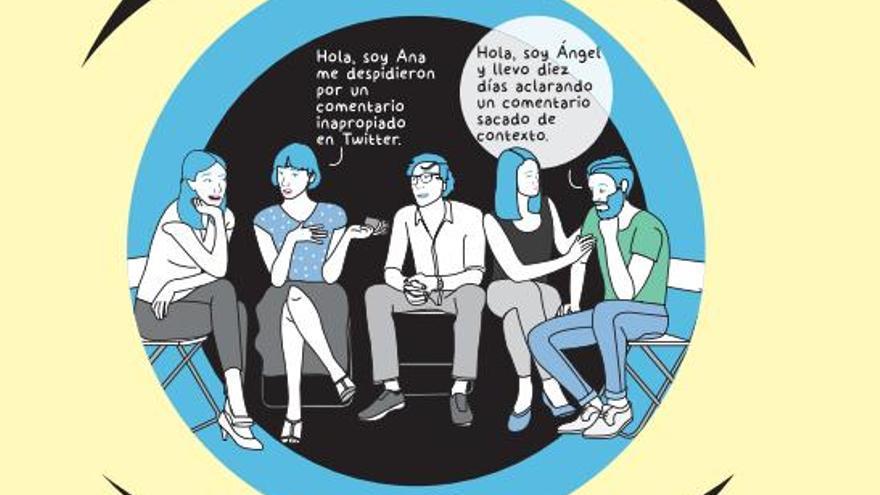 Ilustración de Raquel Córcoles para #Hiperconectados, de Lucía Taboada