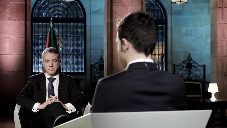 El lehendakari, Íñigo Urkullu, en la entrevista en EITB.