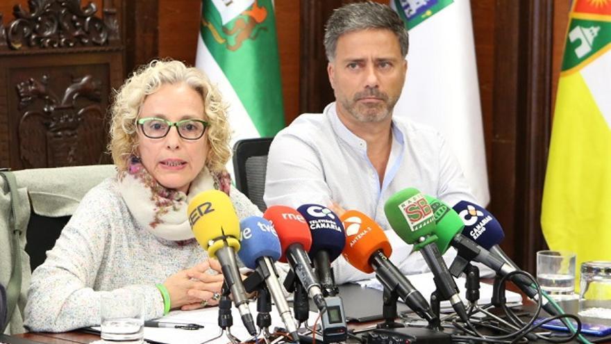 Los consejeros en el Cabildo de Gran Canaria María Nebor y Miguel Ángel Rodríguez